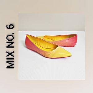 Mix No. 6 Flats Hombre yellow and pink size 7